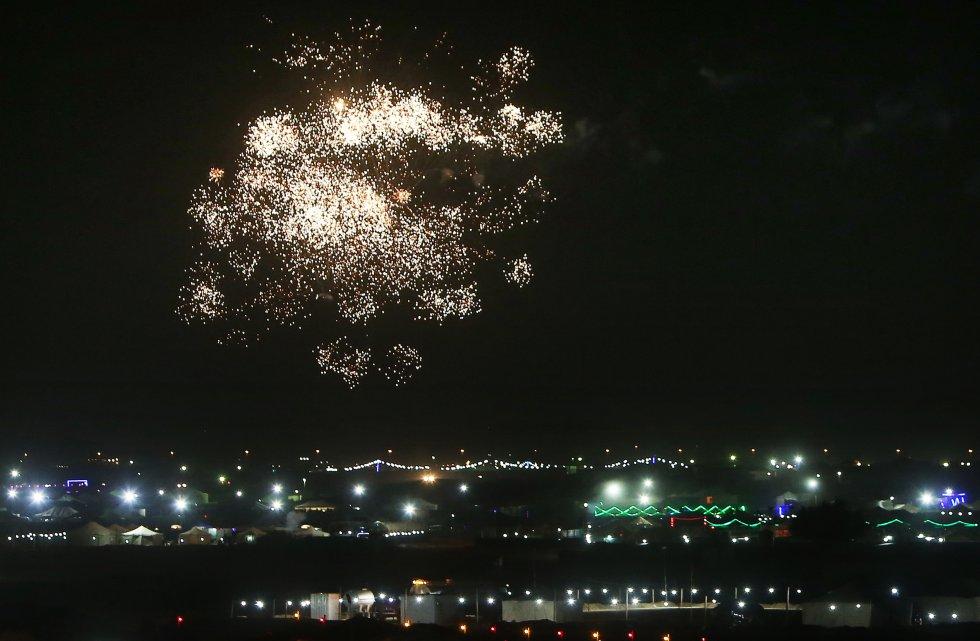 Kuwait celebró con fuegos artificiales el 1 de enero.