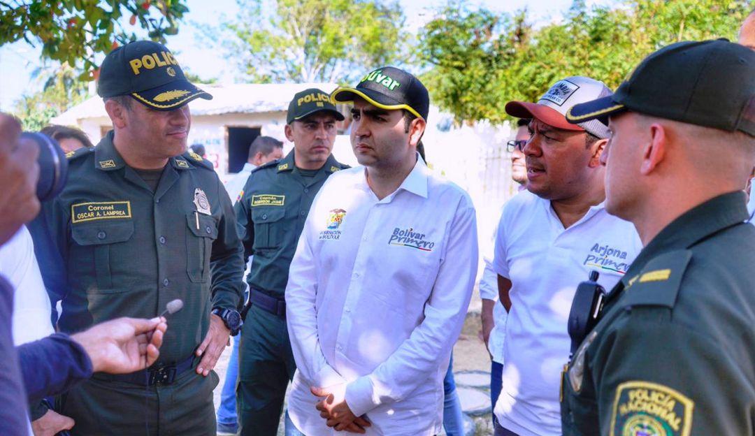 Seguridad en Arjona, Bolívar: Gobernador de Bolívar realizó caravana por la seguridad en Arjona