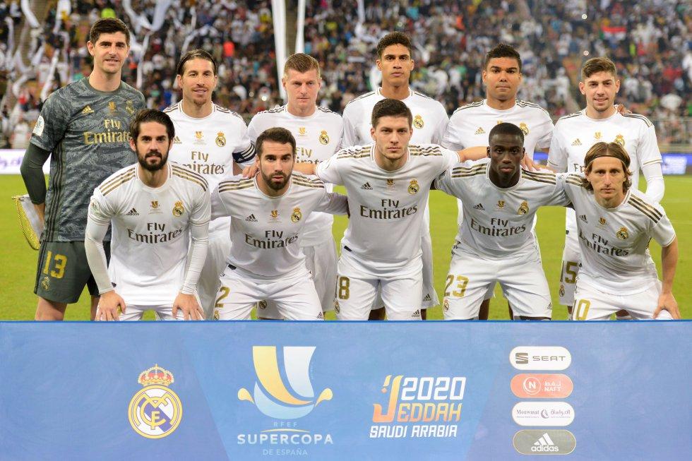 La formación titular del Real Madrid.