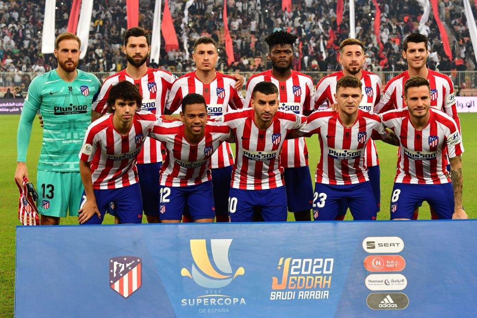 El once inicial del Atlético de Madrid.