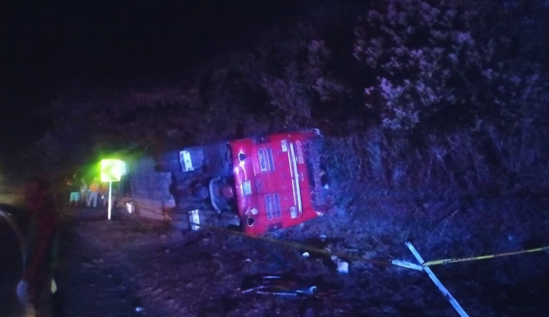 Accidente de bus en La Vega: Accidente cerca de La Vega dejó 28 heridos