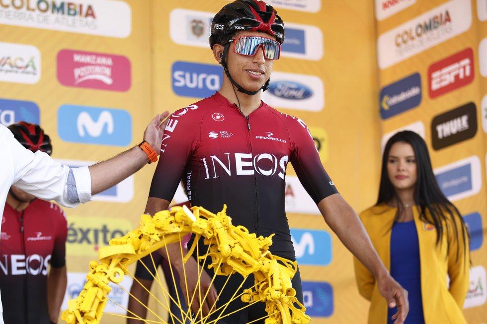 Egan Bernal en la previa de la sexta etapa