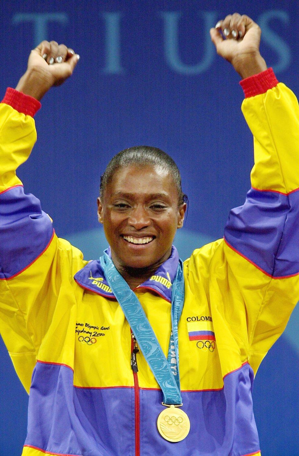 Levantamiento de pesas - Primera atleta colombiana en obtener una medalla de oro en unos Juegos Olímpicos