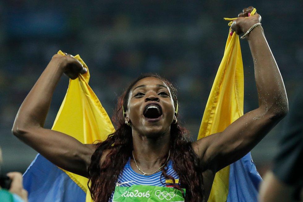 Atletismo - Ganadora de dos medallas olímpicas en la modalidad del salto triple: plata en Londres 2012 y oro en Río 2016.