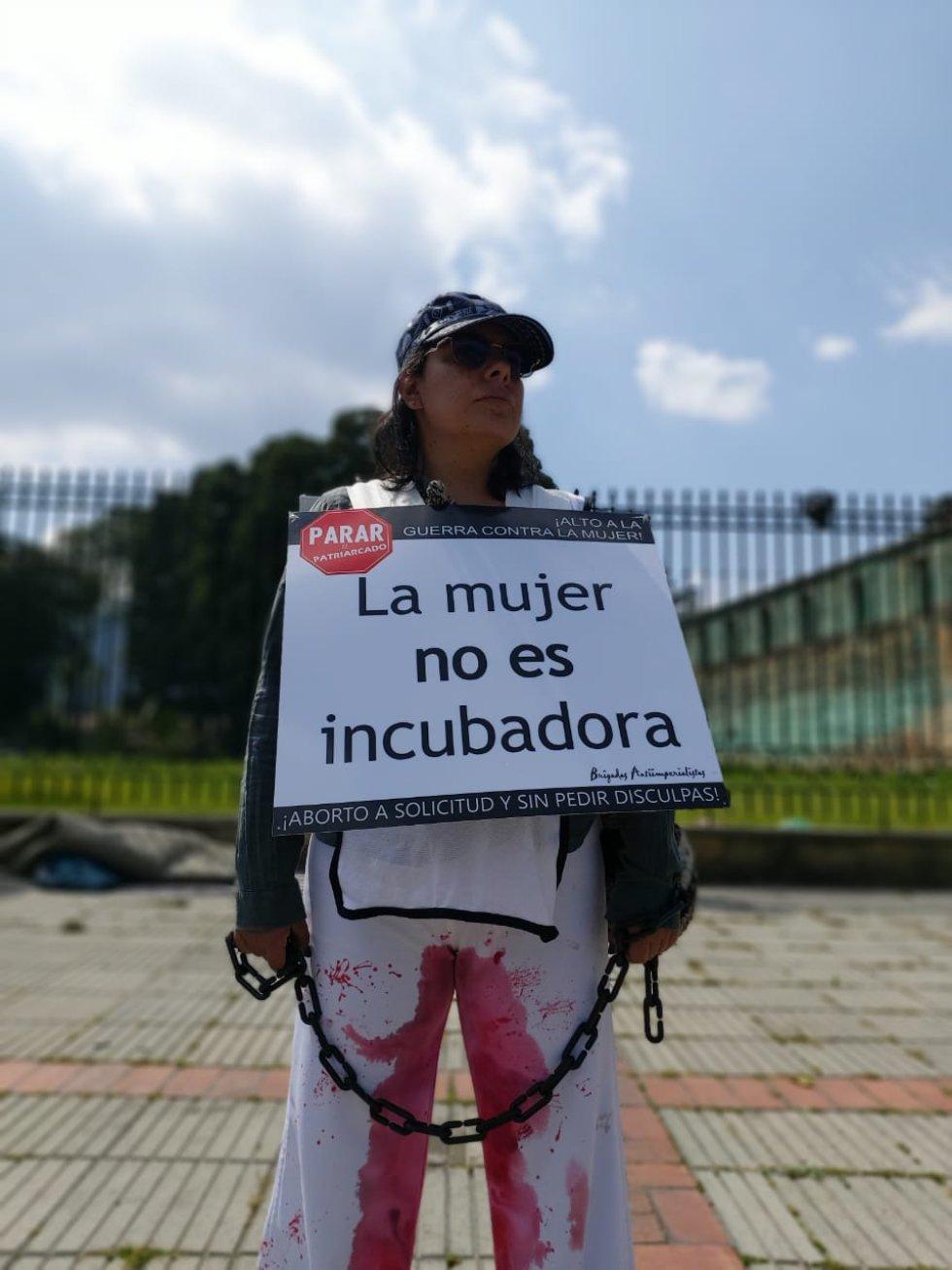 El aborto, uno de los temas por los que marchan las mujeres.