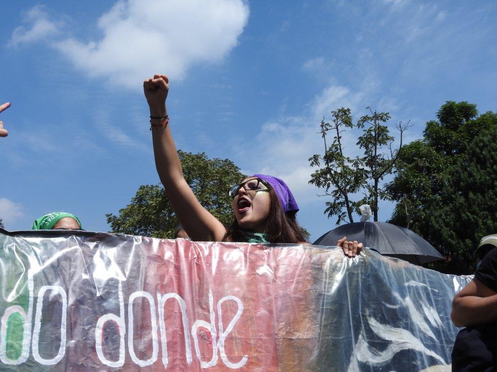Sin importar las edades, las mujeres asistieron masivamente a la marcha  en Bogotá