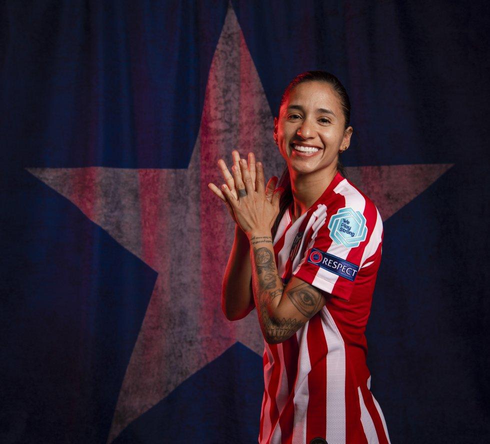 Habitual capitana de la Selección Colombia y la líder en defensa. Desde la temporada 2019/2020 juega en el Atlético de Madrid junto a Leicy Santos.