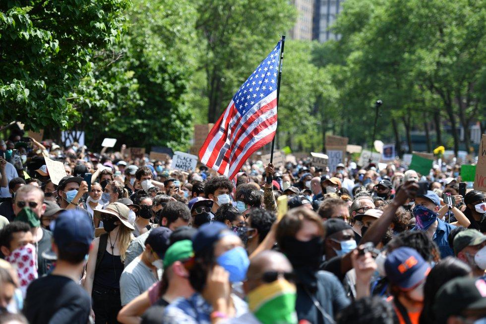 Manifestaciones en Estados Unidos contra el racismo, a raíz de la muerte de George Floyd.