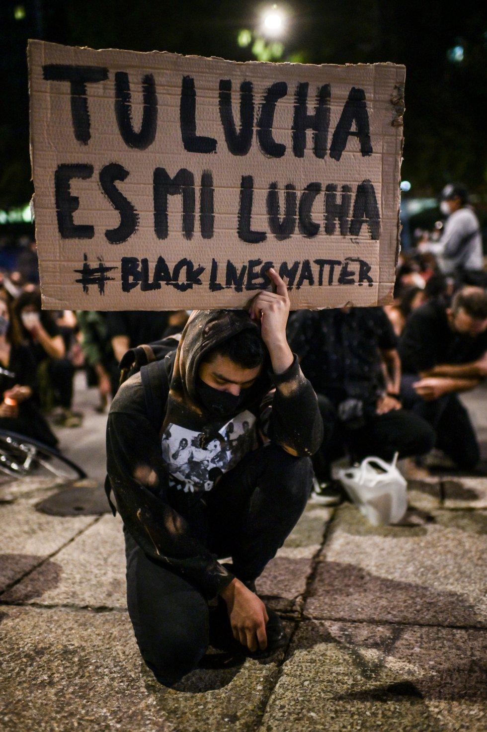 La población latinoamericana se une a las protestas en contra del racismo.