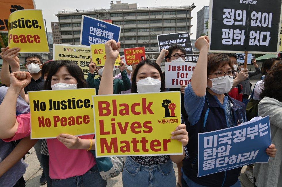 Corea del Sur se une a las manifestaciones en contra de la discriminación y el racismo