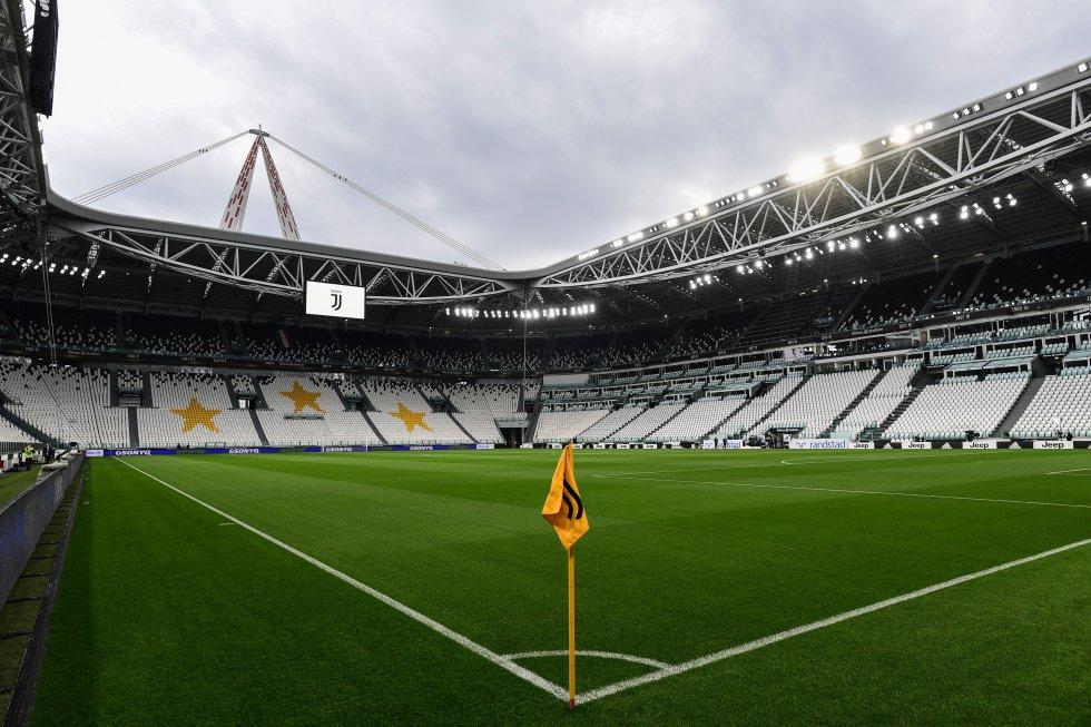 El Juventus Stadium listo para acoger, a puerta cerrada, el regreso del fútbol italiano después de tres meses de suspensión ante la pandemia de la COVID-19.
