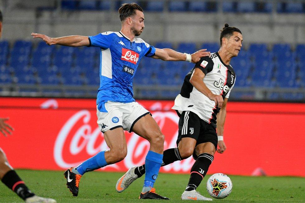Cristiano Ronaldo iba por su tercer título en el fútbol italiano tras los conseguidos en la pasada edición de la Serie A y la Supercopa italiana 2018.