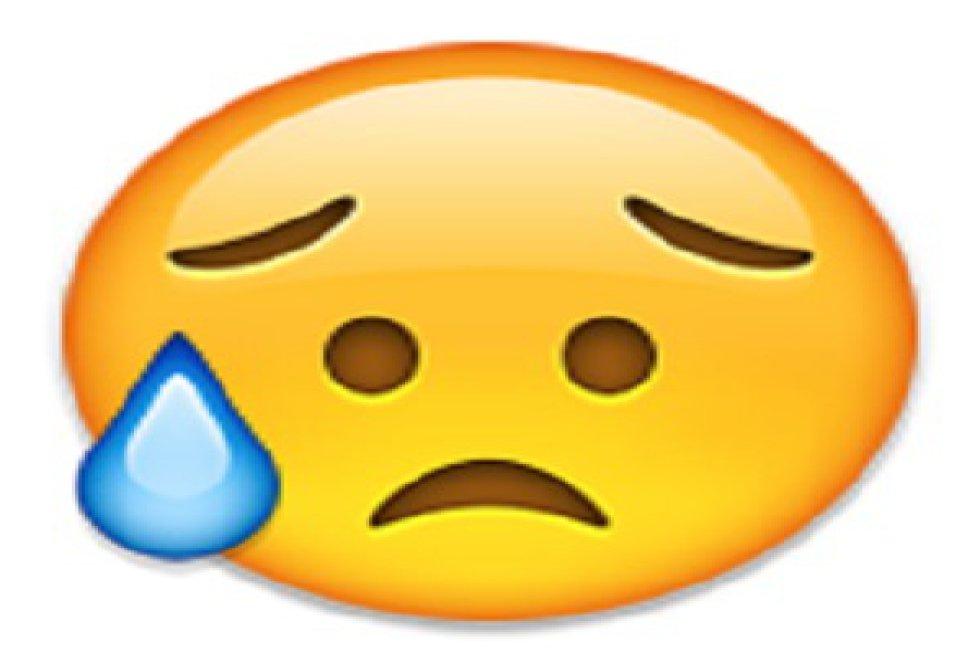 No está llorando, está con una gota de sudor al costado que simboliza la frustración