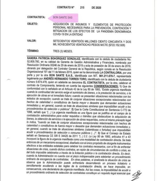 Coronavirus: irregularidades en contratos Fiscalía y Contraloría: Contratos cuestionados de Fiscalía y Contraloría en medio del coronavirus