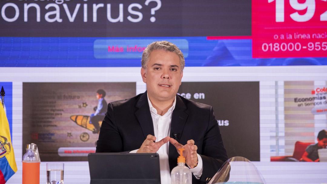 Duque habla de las medidas en contra del coronavirus en Colombia