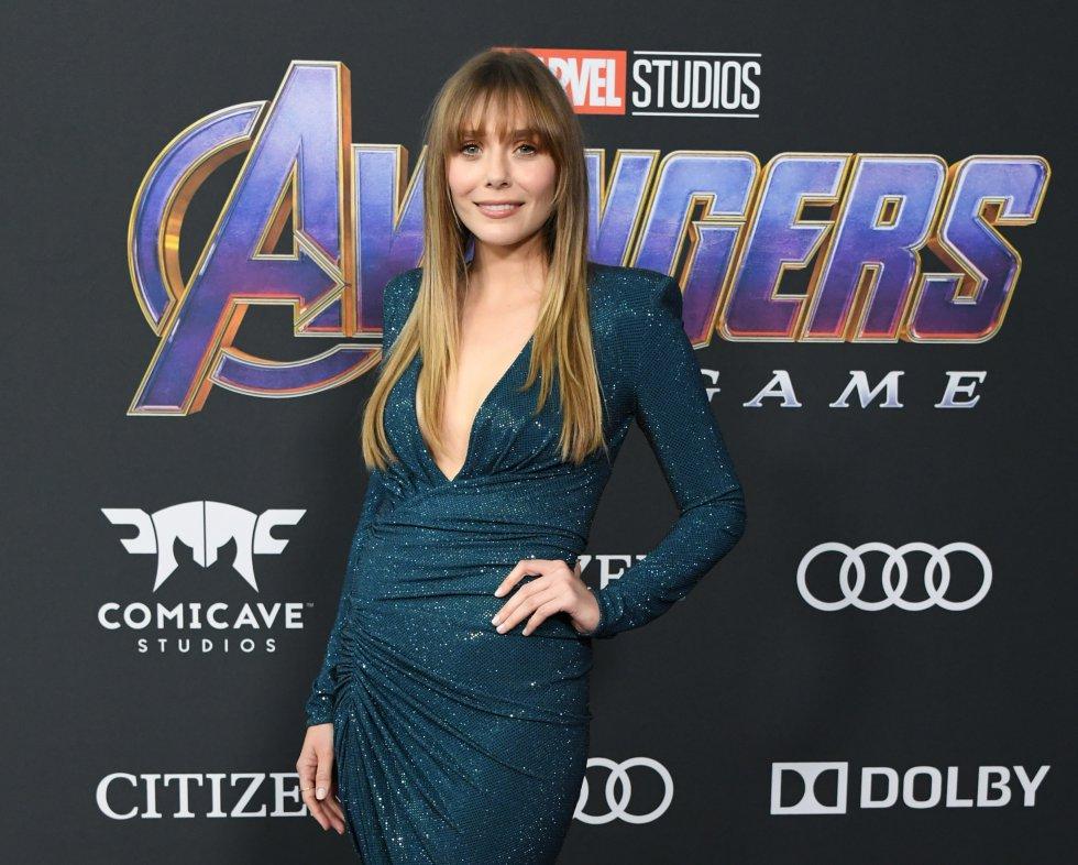 La actriz Elizabeth Olsen en la premier de Avengers: Edgame