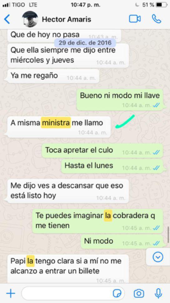 Chat revelaría tráfico de coimas en Barranquilla