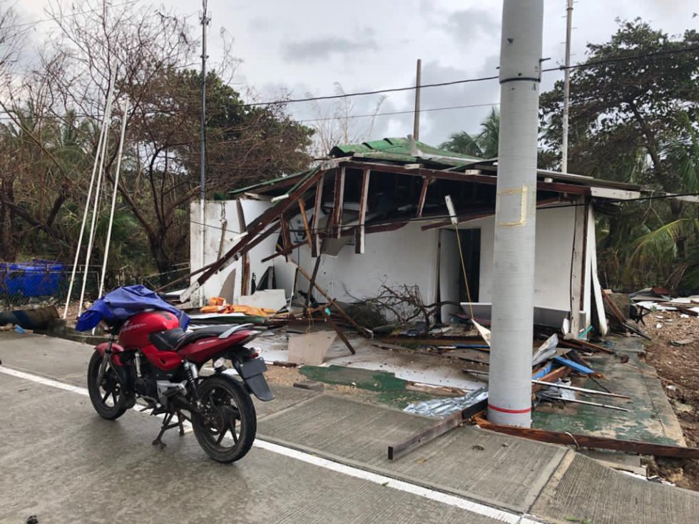 Cientos de viviendas afectadas por el huracán Iota.