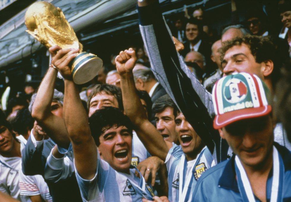 Diego Maradona, campeón del mundo en México 1986.