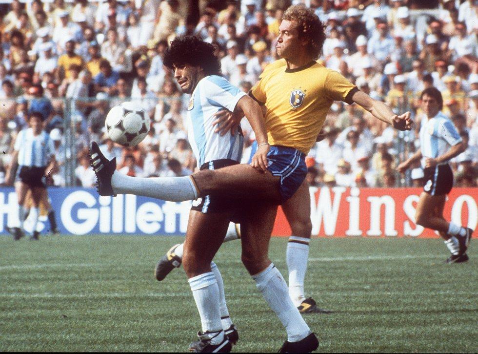 Diego Maradona, con la Selección Argentina.