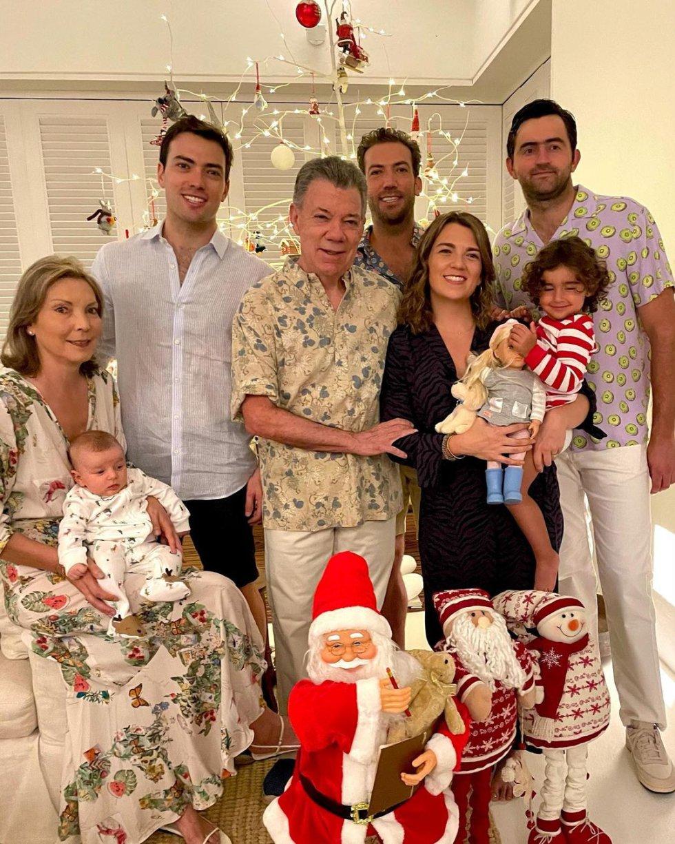 El expresidente pasó la nochebuena junto a su familia