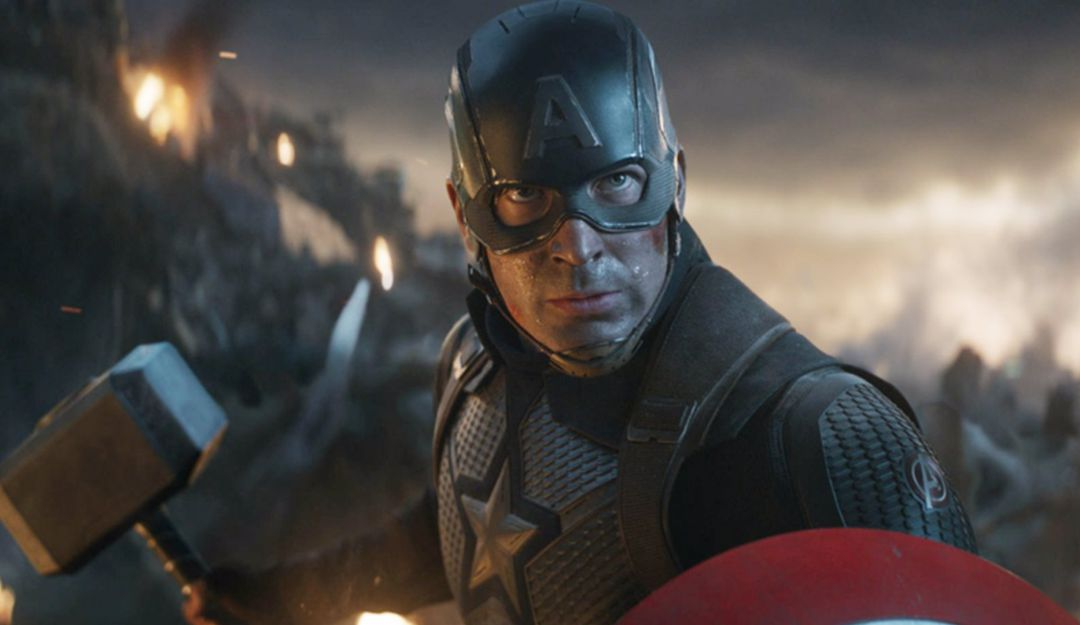 El actor Chris Evans durante la batalla final de Avengers: Endgame