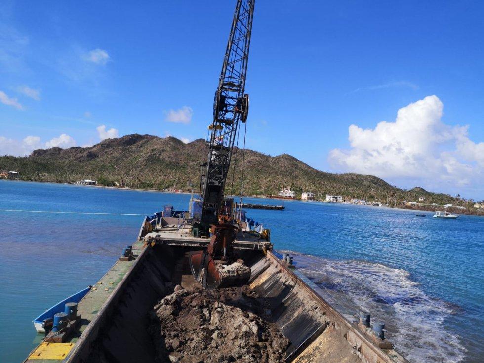 Mar de Providencia: Fotos: Así opera buque ecológico encargado de dragar el mar de Providencia