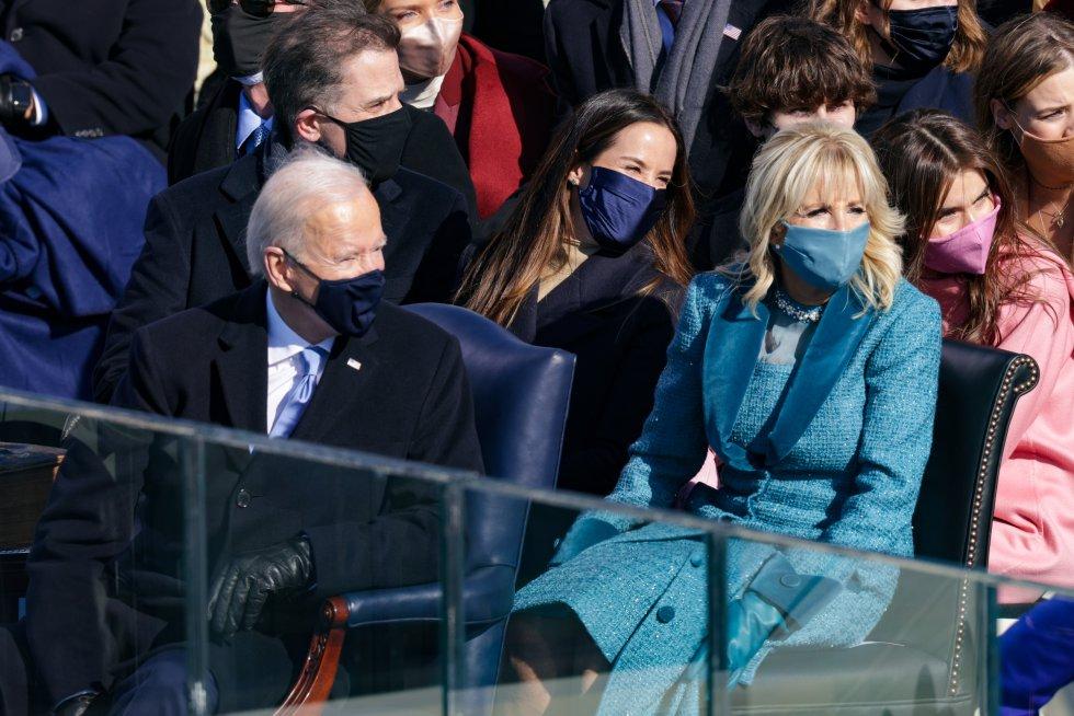 Así iba vestida la esposa de Joe Biden, Jill Baden.
