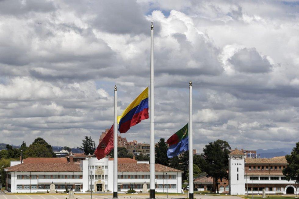 Acto conmemorativo por la muerte del ministro de defensa, Carlos Holmes Trujillo.