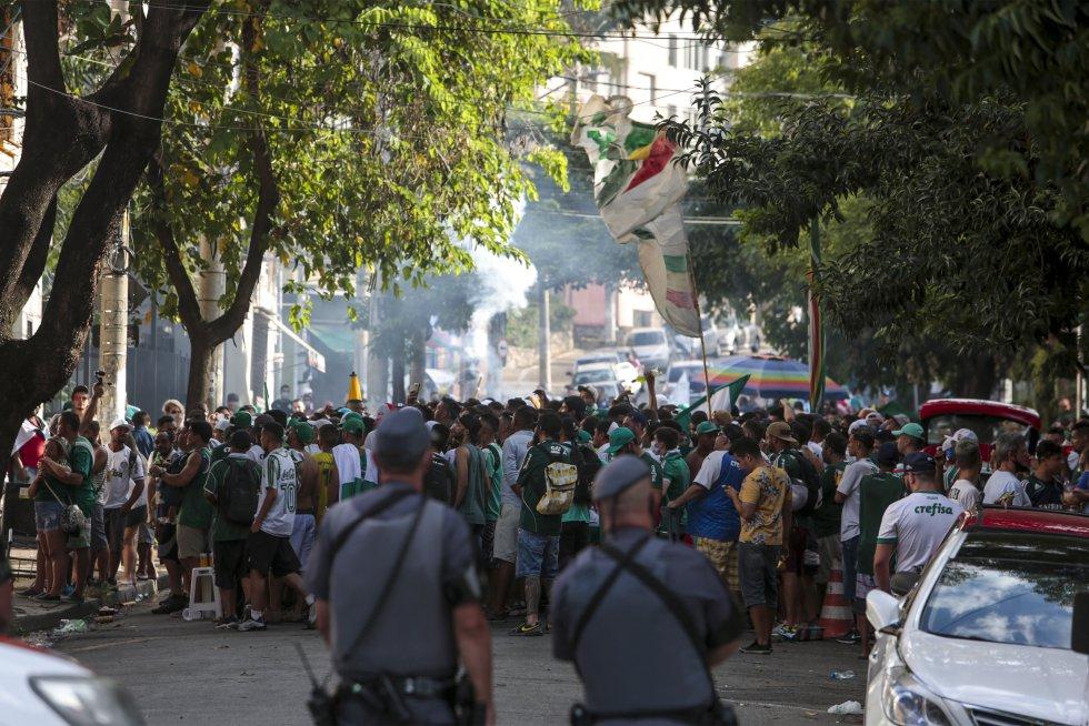 Final Copa Libertadores: Así celebran jugadores e hinchas de Palmeiras su segunda Libertadores