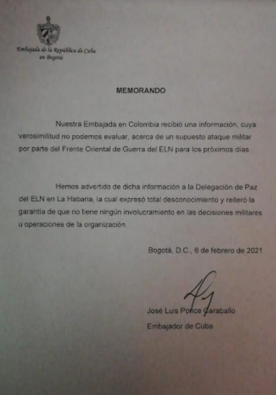 Documento conocido por Caracol Radio