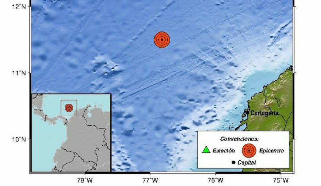 Temblor en el mar Caribe