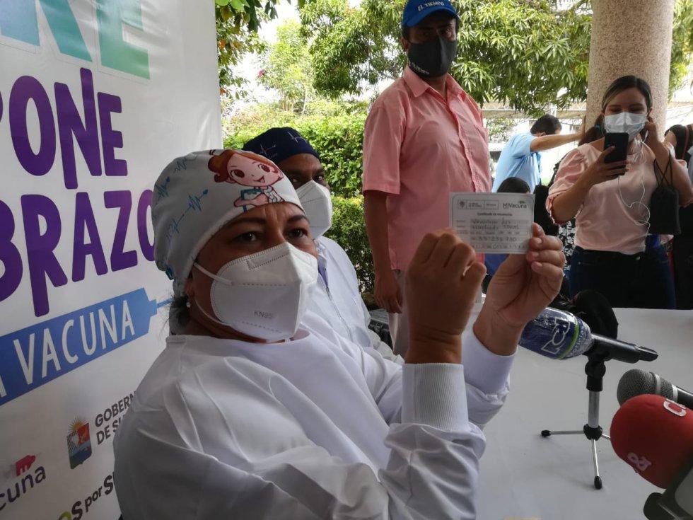 Verónica Machado, enfermera.