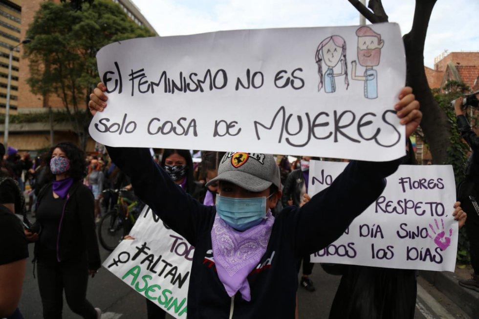 Conmemoración Día de la Mujer en Colombia 2021.