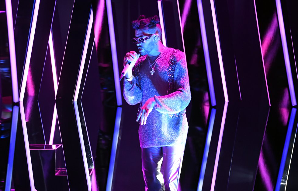 Presentación de Bad Bunny durante la ceremonia 63 de los premios Grammy