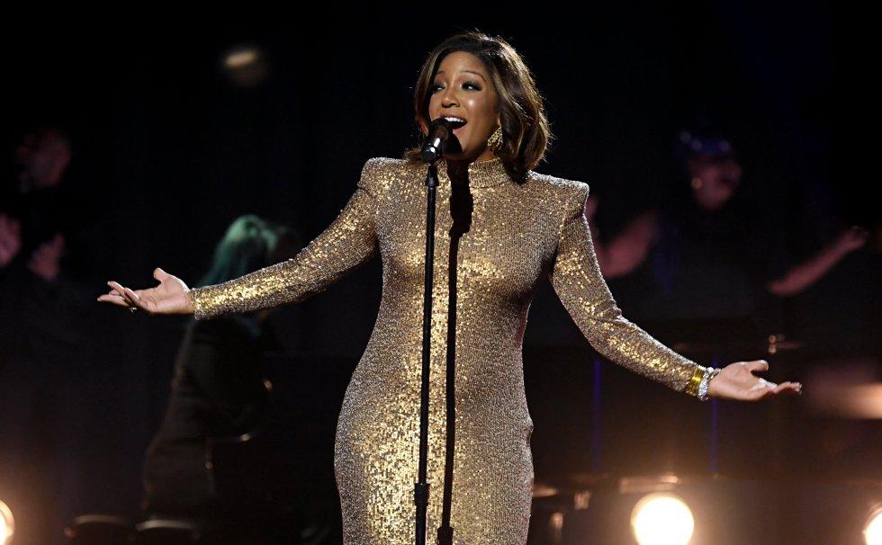 Mickey Guyton durante la ceremonia 63 de los premios Grammy