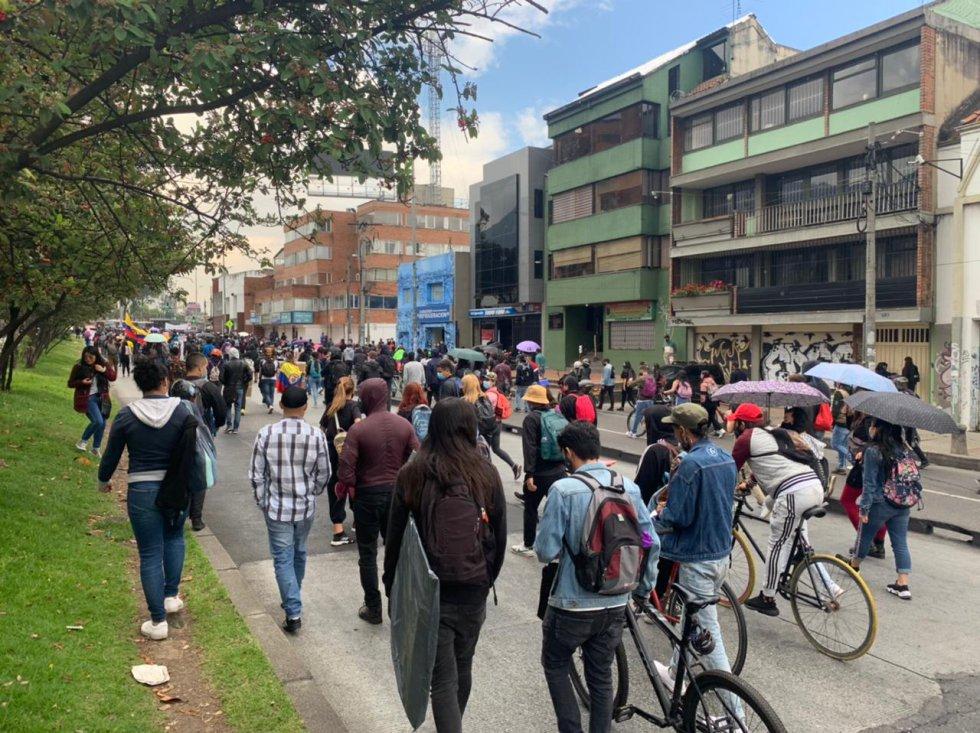 Otro de los puntos sobre la Avenida Caracas en Bogotá