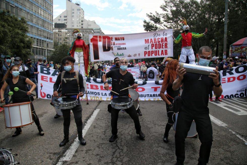 Así avanzan las jornadas de movilizaciones en el país durante el 1 de mayo