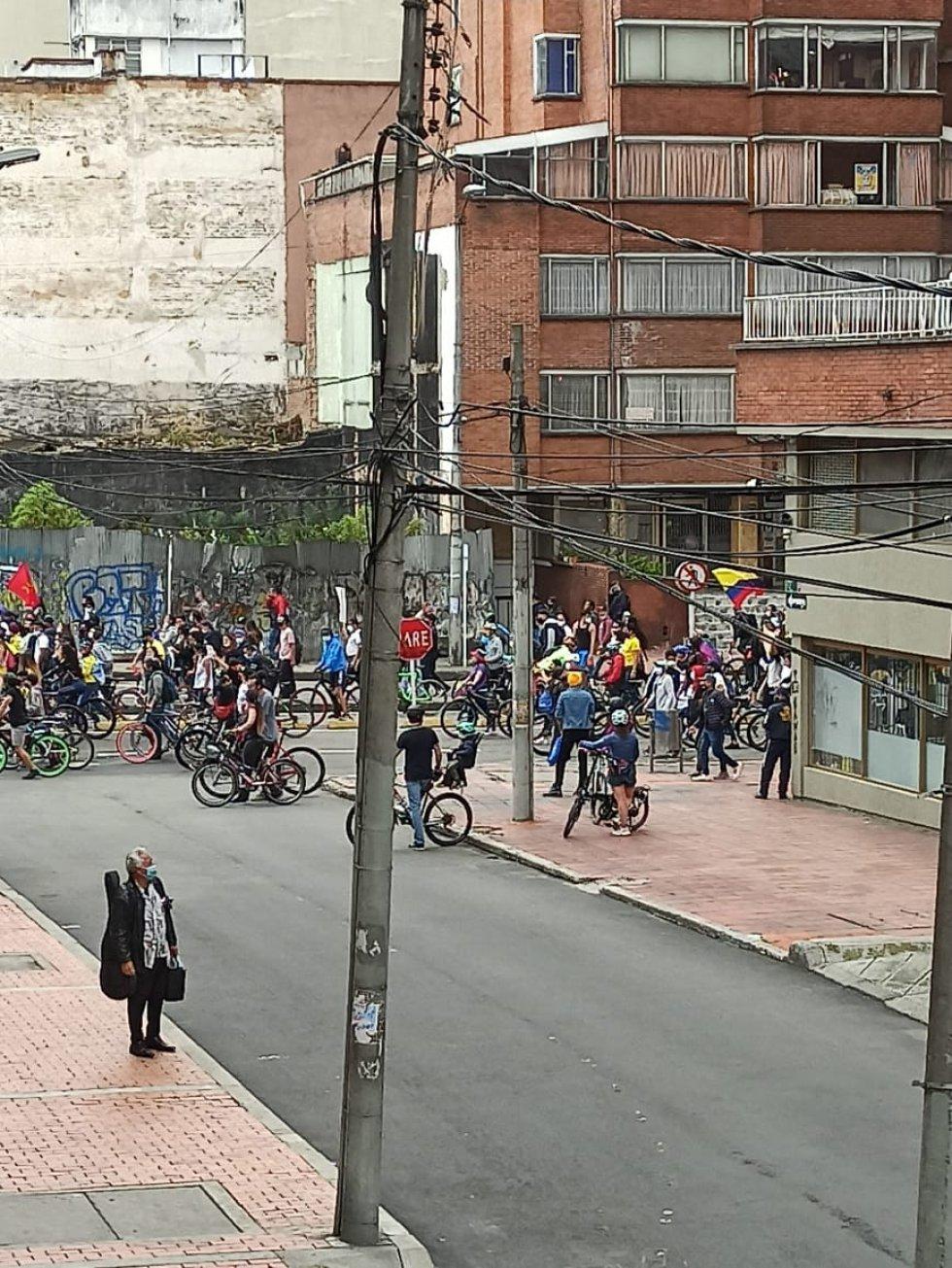 Manifestaciones en la Carrera 7ma con Calle 60