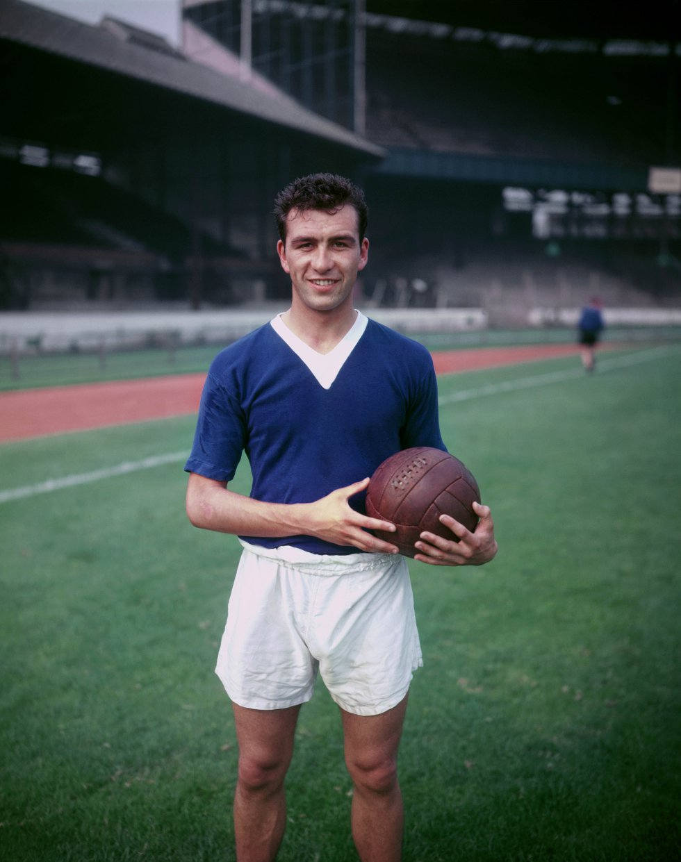 Peter Brabrook, campeón con el Chelsea FC en la temporada 1954 - 1955.