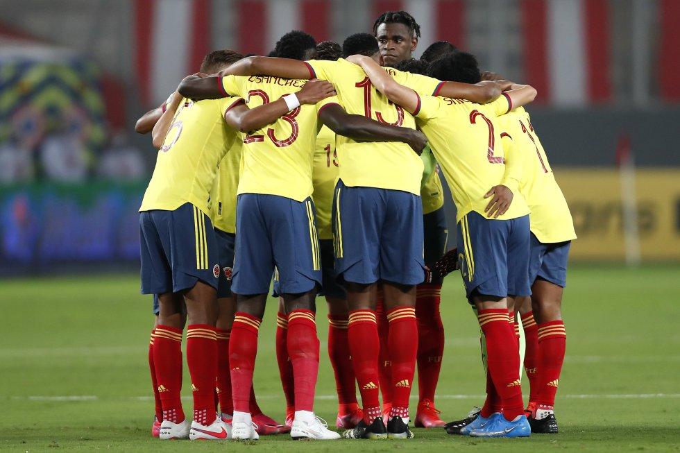 Selección Colombia previa al partido contra Perú