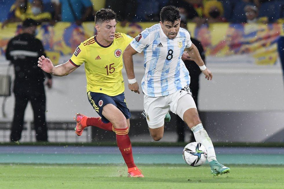 Marcos Acuña y Mateus Uribe