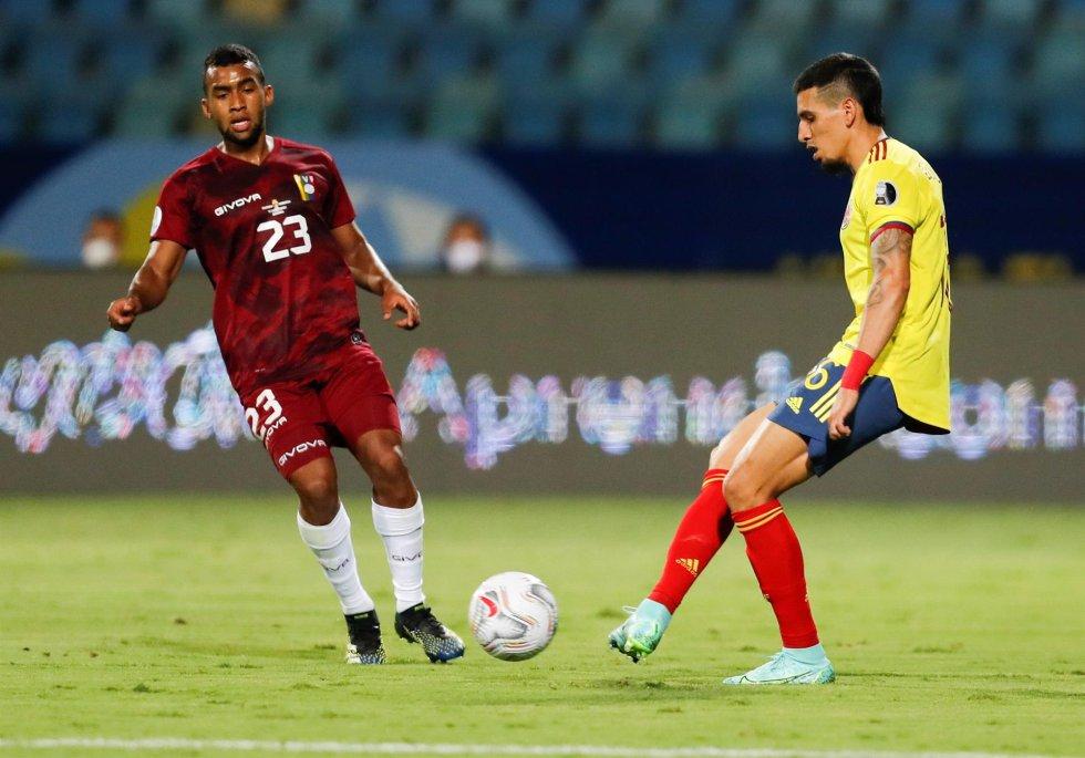 Colombia en su segundo partido de la Copa América contra Venezuela