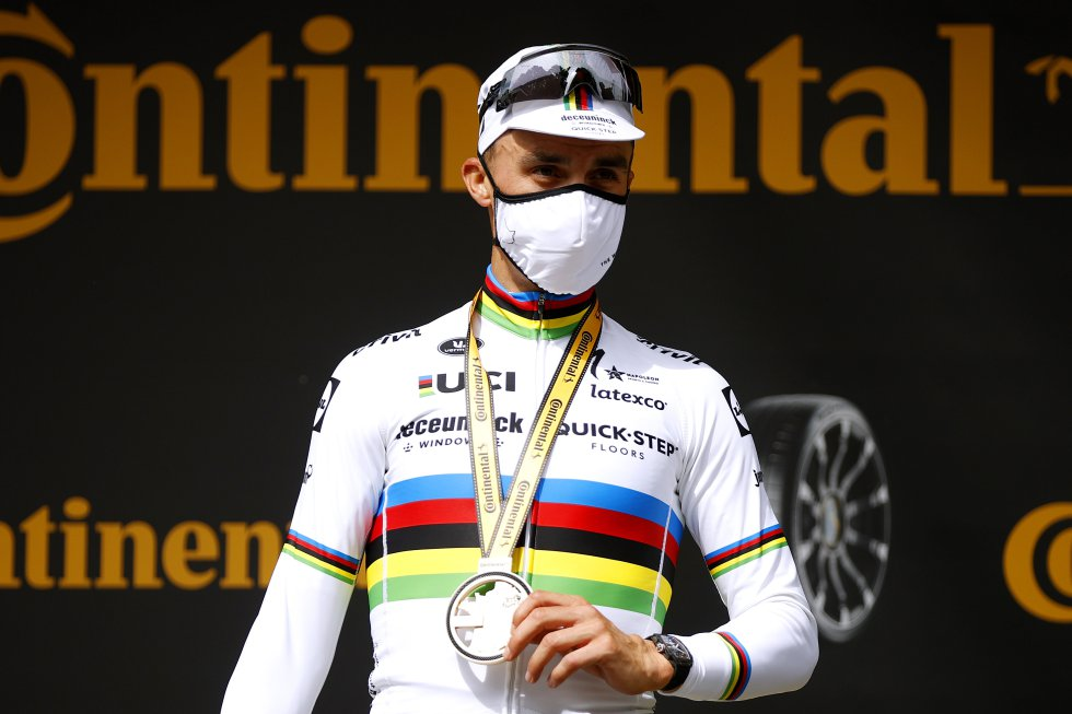 Julian Alaphilippe, ganador de la priemra etapa del Tour de Francia