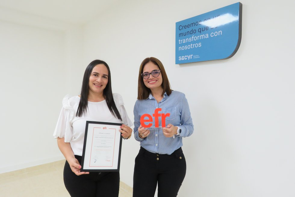 Sacyr es certificada en Colombia como Empresa Familiarmente Responsable EFR: Sacyr es certificada en Colombia como Empresa Familiarmente Responsable EFR