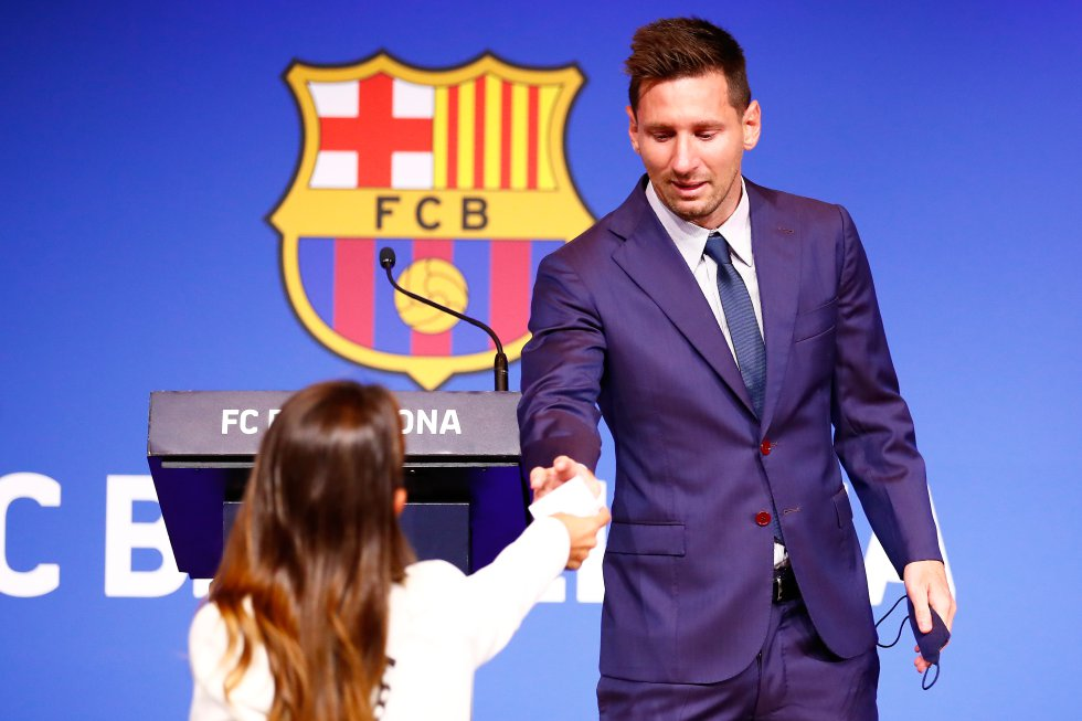 Messi y su esposa Antonella