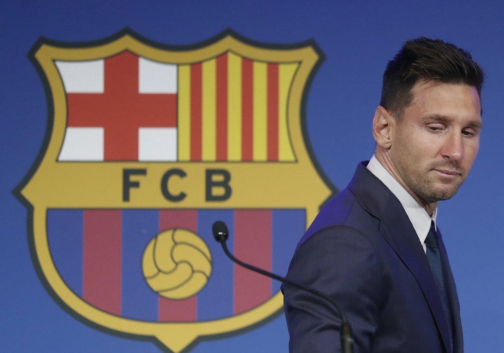 Messi Barcelona: En imágenes: Entre llantos y aplausos terminó la era Messi en Barcelona