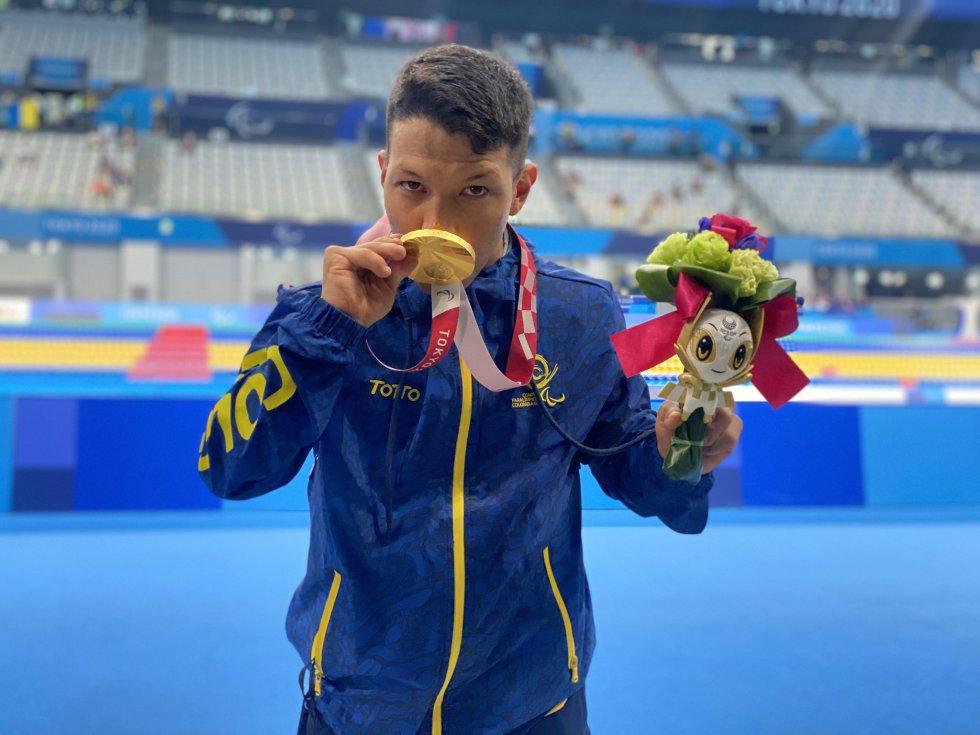 Nelson Crispín en los Juegos Paralímpicos de Tokio