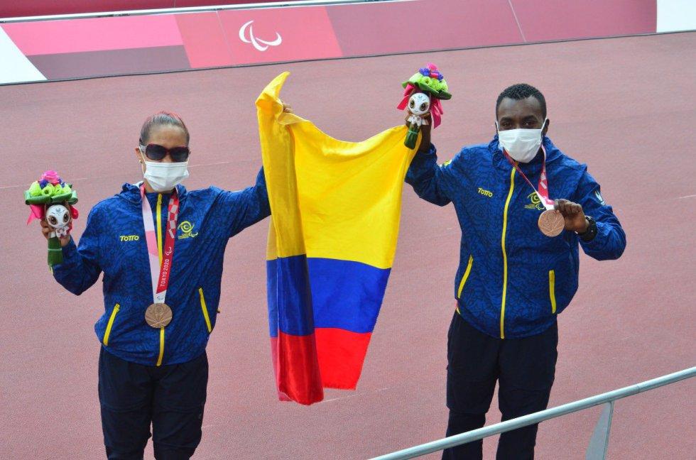 Angie Pabón y Luis Dahir en los Juegos Olímpicos de Tokio