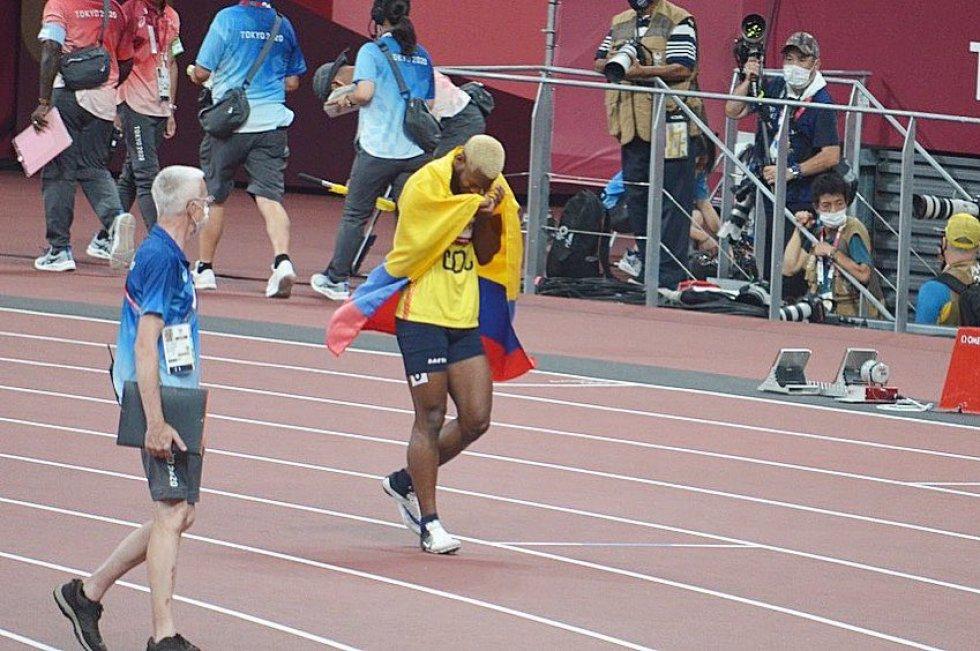 Jean Carlos Mina en los Juegos Olímpicos de Tokio